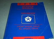 1993 DODGE RAM VAN WAGON Service Repair Manual SET OEM W DIAGNOSTICS BOOKS