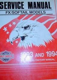 1993 1994 FX HARLEY DAVIDSON SOFTAIL MODELS Service Shop Repair Manual OEM NEW