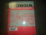 1993 1994 1995 1996 1997 1998 1999 Honda TRX90 Service Repair Shop Manual NEW