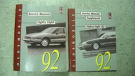 1992 Oldsmobile Eighty Eight 88 Service Shop Repair Manual Set DEALERSHIP 92 OEM