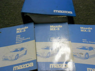 1992 Mazda MX3 MX-3 Service Shop Repair Manual SET FACTORY BOOKS OEM 92 x