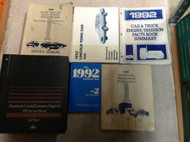 1992 LINCOLN TOWN CAR Service Shop Repair Manual Set 92 W PCED & EWD + MORE OEM