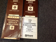 1992 Jeep Cherokee Wagoneer Wrangler Service Shop Repair Manual Set W BULLETINS