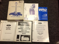 1992 Ford L SERIES L-SERIES TRUCK Service Shop Repair Manual Set W EWD + SPECS