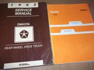 1992 DODGE DAKOTA TRUCK Service Repair Shop Manual SET OEM W RECALLS Book Mopar