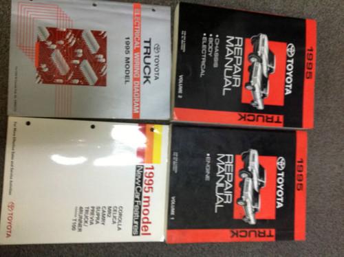 1995 Toyota Truck Pick Up Service Repair Shop Manual Set W