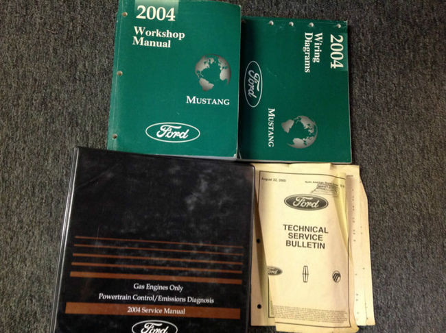 2004 Ford Mustang Gt Cobra Mach Service Shop Repair Manual Set W Ewd  U0026 Pced