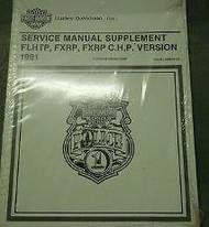 1991 Harley Davidson FLHTP FXRP FXRP CHP Service Shop Manual Supplement NEW