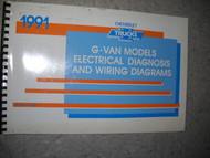 1991 GM CHEVROLET CHEVY VAN Savana Electrical Wiring Diagrams Shop Manual OEM