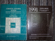 1991 Ford Explorer Service Shop Repair Manual Set OEM Volume 2 & Supplement Book