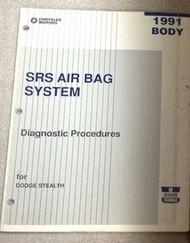 1991 DODGE STEALTH Body SRS AIR BAG System Diagnostic Procedures Manual OEM