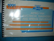 1991 Chevy Astro Van Electrical Wiring Diagrams Service Shop Repair Manual