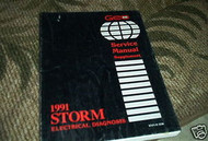 1991 Chevrolet Chevy Geo Storm Service Repair Manual