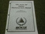 1991 Arctic Cat Panther Illustrated Parts Catalog Manual FACTORY OEM BOOK x