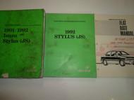1991 1992 Isuzu Stylus Workshop Electrical Troubleshooting Service Manual 3V SET