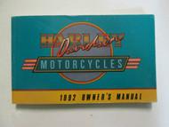 1992 Harley Davidson Models FLT DYNA FLHTC Owners Manual FACTORY BRAND NEW