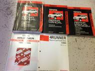 1990 Toyota 4RUNNER 4 RUNNER Service Shop Repair Manual Set W SUPP + EWD OEM