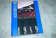 1989 GM Oldsmobile Olds Toronado Factory Service Shop repair Manual OEM