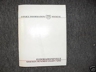 1989 CADILLAC SEVILLE Service Shop Repair Manual FACTORY OEM BOOK 89