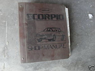 1988 Ford Merkur Scorpio Service Repair Shop Workshop Manual Binder OEM 88