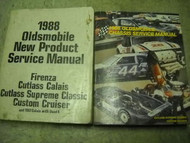 1988 Olds Cutlass Supreme Classic Service Shop Repair Manual SET W PRODUCT GUIDE