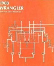 1988 JEEP WRANGLER Electrical Wiring Diagrams Service Shop Repair Manual EWD 88