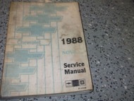 1988 GM Chevrolet Chevy NOVA Service Shop Repair Manual BOOK FACTORY 88 OEM