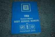 1988 General Motors Fisher Body Service Shop Repair Manual Original OEM Book 88