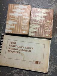 1988 Chevy RVGP R V G P TRUCK Service Shop Repair Manual SET W UNIT & WIRING BKS