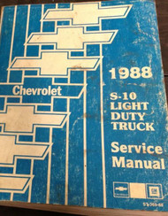 1988 Chevy Chevrolet S10 S-10 S/T TRUCK Service Shop Repair Manual DEALERSHIP