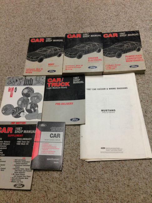 1987 Ford Mustang Gt Cobra Service Shop Repair Manual Set