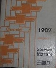 1987 CHEVY CHEVROLET SPRINT TRUCK Service Shop Repair Manual DEALERSHIP 1987 OEM