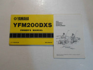 1986 Yamaha YFM200DXS Owners Manual FACTORY OEM BOOK 86 2 VOL SET DEALERSHIP