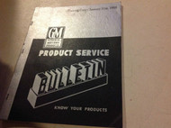 1950 GM Buick Cadillac Chevrolet Pontiac Bulletins Manual OEM RARE JAN 31TH