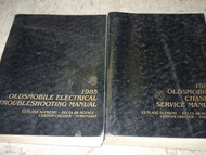 1985 GM OLDSMOBILE OLDS DELTA 88 ROYALE Service Shop Repair Manual Set OEM