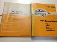 1984 TOYOTA VAN Service Repair Shop Manual OEM W ELECTRICAL WIRING DIAGRAM EWD x