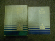 1984 MITSUBISHI Truck Service Repair Shop Manual 2 VOL SET FACTORY OEM BOOK 84 x