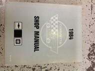 1984 Chevrolet CHEVY CORVETTE Service Repair Shop Manual Dealership OEM Book 84