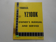 1983 Yamaha YZ100K Owners Manual and Service FACTORY OEM BOOK 83 STAINED DEAL