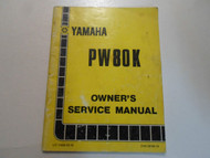 1983 Yamaha PW80K Owners Service Manual FACTORY OEM BOOK 83 DEALERSHIP WORN