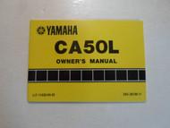1983 Yamaha CA50L Owners Manual FACTORY OEM BOOK 83 DEALERSHIP