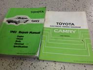 1983 Toyota Camry Service Repair Shop Manual SET W Wiring Diagram Manual EWD OEM
