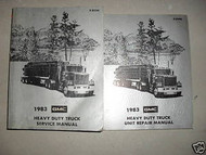 1983 GMC Heavy Duty Truck Service Repair Shop Manual Set 83 DIESEL FACTORY OEM