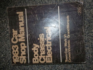 1983 Ford Lincoln Town Car Service Shop Repair Manual OEM BODY CHASSIS ELECTRICA