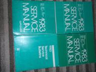 1983 CHRYSLER NEW YORKER Shop Repair Service Manual Set FACTORY W SUPP & TECH BU