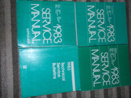 1983 CHRYSLER LEBARON Shop Repair Service Manual Set FACTORY OEM MOPAR BOOKS