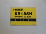 1982 Yamaha SR185H Owners Manual FACTORY OEM BOOK 82 DEALERSHIP