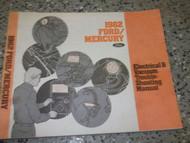1982 MERCURY GRAND MARQUIS Wiring Electrical TROUBLESHOOTING Shop Repair Manual