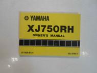 1981 Yamaha XJ750RH Owners Manual FACTORY OEM BOOK 81 DEALERSHIP