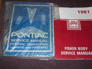 1981 Pontiac Firebird Trans Am Grand Prix Service Shop Repair Manual SET X OEM